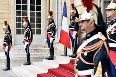 Guardias republicanos de Matignon del hotel del honor Fotografía de archivo libre de regalías