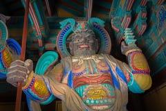 Guardie all'entrata al complesso del tempio di Bulguksa (è stato integrato Fotografia Stock