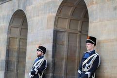 Guardie che cambiano alla ricezione dei nuovi anni dal re Of The Netherlands 2019 immagine stock