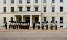 Guardie di cavallo a Londra sulla parata di mattina Fotografie Stock
