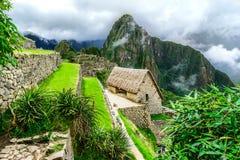 Guardie in Machu Picchu, valle sacra, Perù Immagini Stock