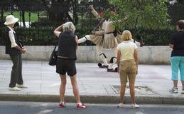 Guardie presidenziali e turisti Fotografie Stock Libere da Diritti