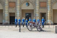 Guardie reali a Stoccolma immagini stock libere da diritti