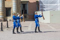 Guardie reali a Stoccolma immagine stock libera da diritti