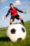 Guardien de but du football Photo stock
