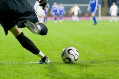 Guardien de but du football ou du football   Photos stock