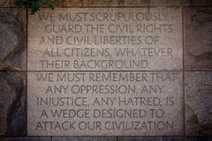 Guarding Civil Rights Royalty Free Stock Images