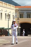 Guarding the Prince`s Palace of Monaco royalty free stock image