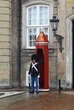 Guarding the Royal Palace, Copenhagen Royalty Free Stock Photography