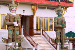 Guarding the wat Stock Image