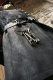 Guardião da cadeia com chaves Foto de Stock