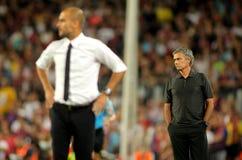 Guardiola and Mourinho Royalty Free Stock Photo
