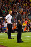 Guardiola and Mourinho Stock Photography
