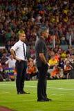 Guardiola und Mourinho Stockfotografie