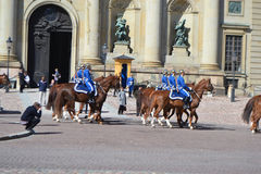 guardkunglig person sweden Royaltyfria Bilder