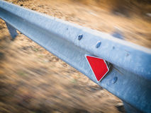 Guardrail In The Country Royalty Free Stock Photography