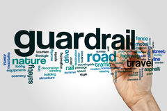 Guardrail word cloud. Concept on grey background Stock Image