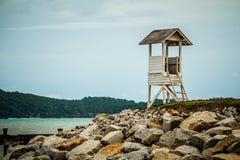 Guardroomframdel av havet Arkivfoto