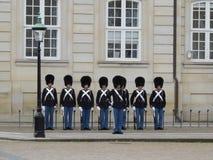 Guards at Amalienborg Stock Images