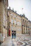 Guards at Amalienborg. The Royal home in Copenhagen. Denmark royalty free stock photography