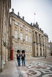 Guards at Amalienborg. The Royal home in Copenhagen. Denmark royalty free stock image