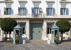 Free Guards At The President Palace In Budapest Stock Image - 35647901