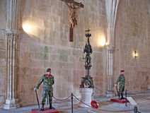 The guards in Batalha Monastery stock image