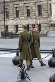 Guards in Budapest, Hungary Stock Images