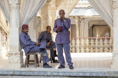 Guards in the City Palace of Udaipur Royalty Free Stock Photo