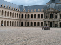 Guards at des Invalides complex Paris Royalty Free Stock Photos