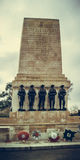 Guards Division Memorial. London, UK - February 25, 2016: Guards Division Memorial honours dead soldiers of 5 regiments of World Wars - St. James`s Park, Horse stock images