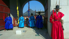 Guards of emperor palace at Seoul. South Korea Stock Image