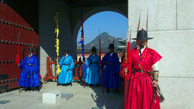 Guards of emperor palace at Seoul. South Korea Stock Photography