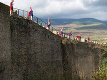 Guards Of Fortress. Guards in a wall fortress in Buitrago, Spain Stock Image