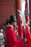 The guards of Gyeongbokgung Palace  in Seoul Stock Image