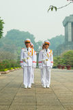 Guards at the Ho Chi Minh Mausoleum. Stock Image