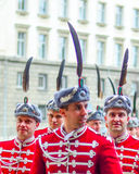 Guards of Honor. SOFIA : Guards of Honor in front of the Presidency of Bulgarian republic National Guards Unit includes military units for army salute Royalty Free Stock Photos
