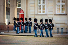 Guards of honour in Copenhagen Royalty Free Stock Photo