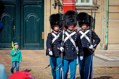 Guards of honour in Copenhagen Stock Image