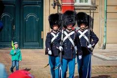 Guards of honour in Copenhagen Stock Image