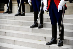 Guards of honour. Uniform detail of ceremonial guards of honour Royalty Free Stock Photography