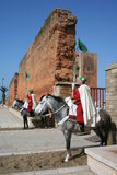 Guards on horse in rabat Stock Photos