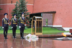 Guards at Kremlin War Memorial Stock Images