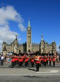 Guards Marching from Parliament Hill Royalty Free Stock Photo