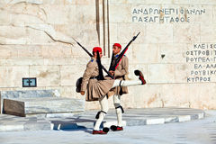The guards near parlament in Athens, Greece royalty free stock images