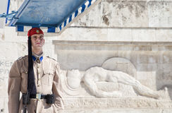 Guards near parlament in Athens, Greece Stock Photo