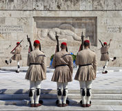 Guards near parlament in Athens, Greece Stock Photos