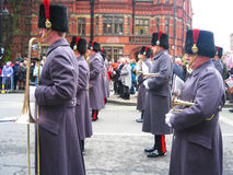 Guards on parade, York, England. Royalty Free Stock Images