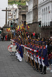 Guards in Quito Stock Photography