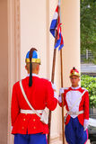 Guards standing by the entrance of National Pantheon of the Hero Royalty Free Stock Photography
